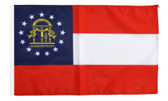 Bandiera USA Georgia con orlo