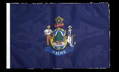 Bandiera USA Maine con orlo