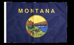 Bandiera USA Montana con orlo