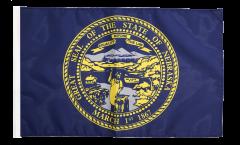 Bandiera USA Nebraska con orlo