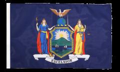 Bandiera USA New York con orlo