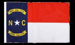Bandiera USA North Carolina con orlo