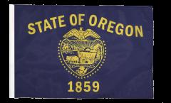 Bandiera USA Oregon con orlo