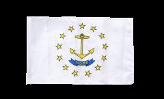 Bandiera USA Rhode Island con orlo