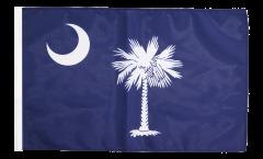 Bandiera USA South Carolina con orlo