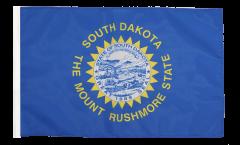 Bandiera USA South Dakota con orlo