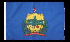 Bandiera USA Vermont con orlo