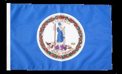 Bandiera USA Virginia con orlo