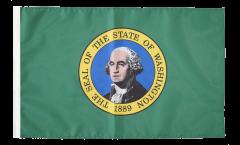 Bandiera USA Washington con orlo