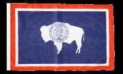 Bandiera USA Wyoming con orlo