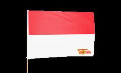 Bandiera da asta 1.FC Union Berlin rot-weiß