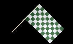Bandiera da asta a quadri verde-bianchi