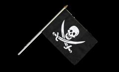 Bandiera da asta Pirata con due spade