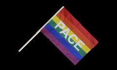 Bandiera da asta Arcobaleno con PACE