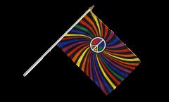 Bandiera da asta Arcobaleno Peace Swirl