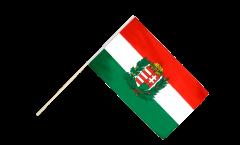 Bandiera da asta Ungheria con stemmi