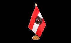 Bandiera da tavolo Austria con l'aquila