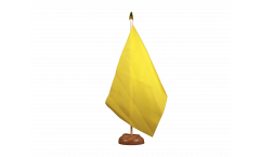 Bandiera da tavolo Unicolore Gialla