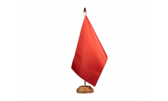 Bandiera da tavolo Unicolore Rossa