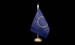 Bandiera da tavolo EU con 27 stelle