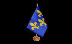Bandiera da tavolo Francia Ile de France stemma giglio