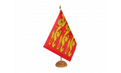 Bandiera da tavolo Francia Alta Normandia, treis cats