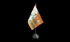 Bandiera da tavolo Frohe Ostern Coniglietto di Pasqua