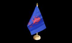 Bandiera da tavolo Regno Unito British Army Royal Welch Fusiliers