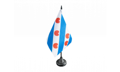 Bandiera da tavolo Paesi Bassi Frisia