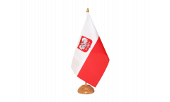Bandiera da tavolo Polonia con aquila