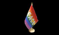 Bandiera da tavolo Arcobaleno con PACE