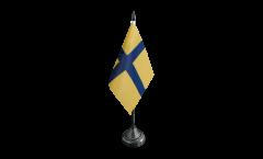 Bandiera da tavolo Svezia Provincia Östergötland tradizionale