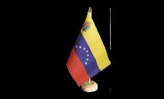 Bandiera da tavolo Venezuela 7 Stelle con stemma 1930-2006
