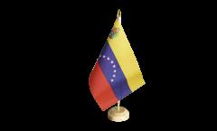 Bandiera da tavolo Venezuela 8 Stelle con stemma