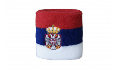 Fascia di sudore Serbia con stemmi - 7 x 8 cm