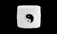 Fascia di sudore Ying Yang, bianca - 7 x 8 cm