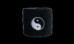 Fascia di sudore Ying Yang neri - 7 x 8 cm