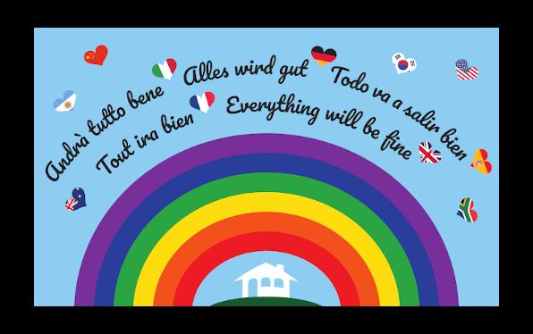 Bandiera Andrà tutto bene - Arcobaleno